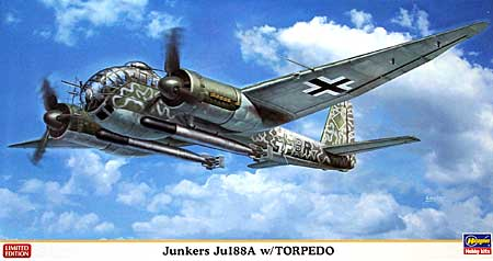 ユンカース Ju188A 魚雷搭載機プラモデル(ハセガワ1/72 飛行機 限定生産No.01939)商品画像