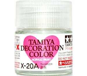 溶剤 (X-20A)塗料(タミヤタミヤデコレーションシリーズ デコレーションカラーNo.X-020A)商品画像