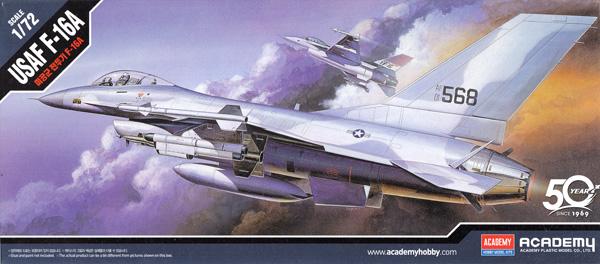 USAF F-16A ファイティングファルコンプラモデル(アカデミー1/72 AircraftsNo.12444)商品画像
