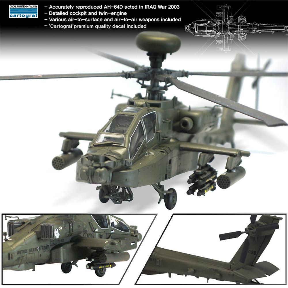 AH-64D アパッチ ブロック 2 初期型プラモデル(アカデミー1/72 AircraftsNo.12514)商品画像_3