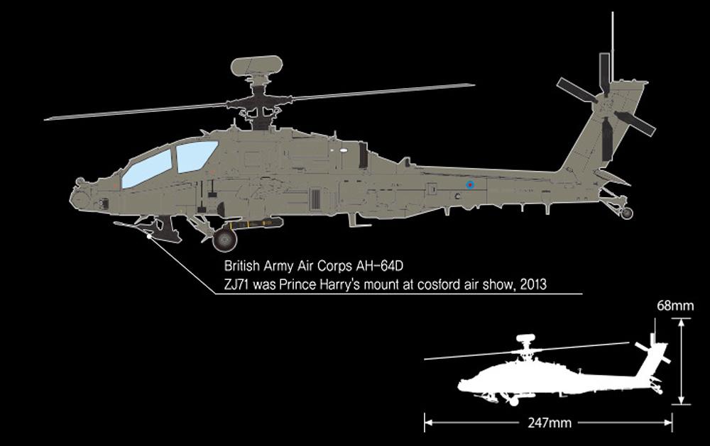 イギリス陸軍 AH-64D ロングボウ アパッチ アフガニスタンプラモデル(アカデミー1/72 AircraftsNo.12537)商品画像_2