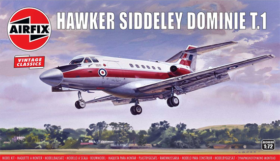 ホーカーシドレー ドミネ T.1プラモデル(エアフィックス1/72 ミリタリーエアクラフトNo.A03009V)商品画像