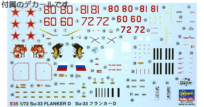 Su-33 フランカーDプラモデル(ハセガワ1/72 飛行機 EシリーズNo.E035)商品画像_1