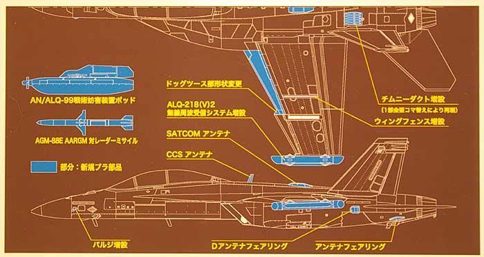 EA-18G グラウラープラモデル(ハセガワ1/48 飛行機 PTシリーズNo.PT052)商品画像_2