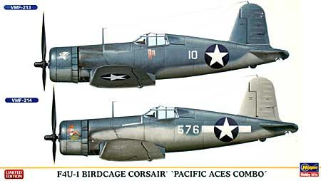 F4U-1 バードケージ コルセア パシフィック エーセス コンボ (2機セット)プラモデル(ハセガワ1/72 飛行機 限定生産No.01946)商品画像