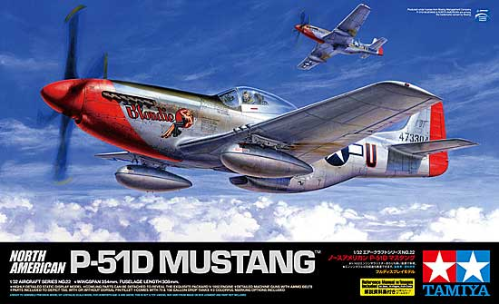 ノースアメリカン P-51D マスタングプラモデル(タミヤ1/32 エアークラフトシリーズNo.022)商品画像