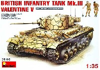 ミニアート1/35 WW2 ミリタリーミニチュアバレンタイン Mk.5 歩兵戦車 (フィギュア2体・エッチングパーツ付)