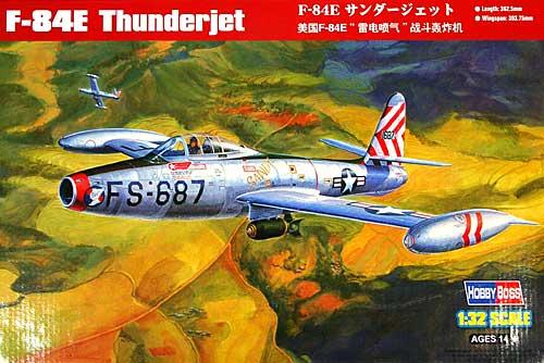 F-84E サンダージェットプラモデル(ホビーボス1/32 エアクラフト シリーズNo.83207)商品画像