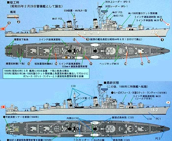 海上自衛隊 護衛艦 DD-162 てるづき (初代)プラモデル(ピットロード1/700 スカイウェーブ J シリーズNo.J-048)商品画像_1