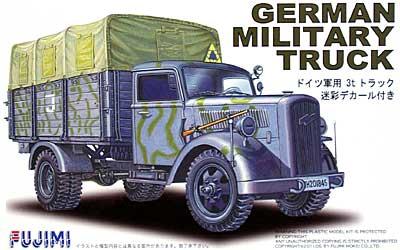 ドイツ 軍用 3t トラック (迷彩デカール付き)プラモデル(フジミ1/72 ミリタリーシリーズNo.72M-002)商品画像