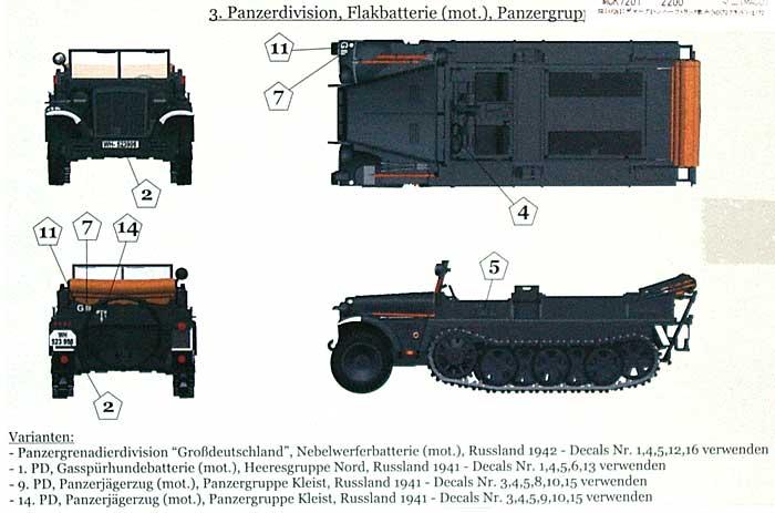 ドイツ SdKfz.10 1トン ハーフトラック デマーグ D7プラモデル(マコ1/72 AFVキットNo.07201)商品画像_1