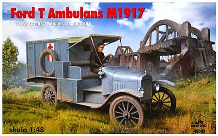 フランス・ポーランド軍 T型フォード救急車 1917年型プラモデル(RPM1/48 ミリタリーNo.48002)商品画像