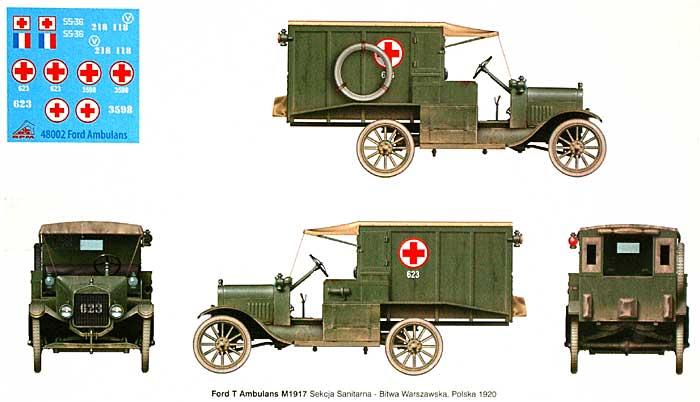 フランス・ポーランド軍 T型フォード救急車 1917年型プラモデル(RPM1/48 ミリタリーNo.48002)商品画像_1
