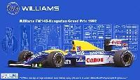 フジミ1/20 GPシリーズウィリアムズ・ルノー FW14B 1992年 ハンガリーグランプリ仕様