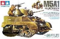 タミヤスケール限定品アメリカ軽戦車 M5A1 ヘッジホッグ 追撃作戦セット (フィギュア4体付き) (ウェザリングマスター付き)