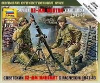 ズベズダART OF TACTICソビエト 82mm 追撃砲 w/クルー 1941-43