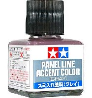 タミヤメイクアップ材スミ入れ塗料 グレイ