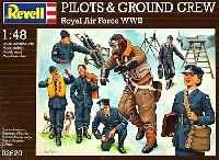 レベル1/48 飛行機モデルパイロット & グランドクルー (イギリス空軍 WW2)