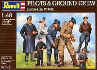 レベル1/48 飛行機モデルパイロット & グランドクルー (ルフトヴァッフェ WW2)