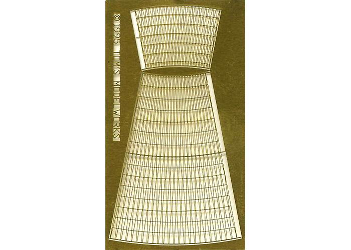 WW2 米海軍 戦艦用 カゴマストエッチング(トムスモデル1/700 艦船用エッチングパーツシリーズNo.PE308)商品画像_1