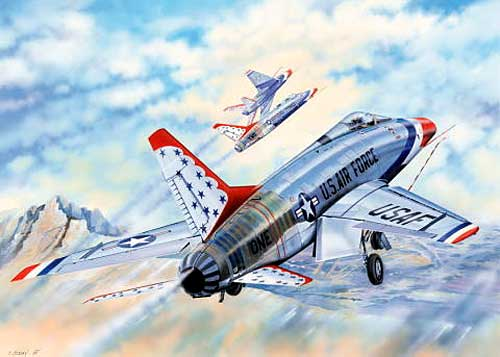 アメリカ空軍 F-100D スーパーセーバー サンダーバーズプラモデル(トランペッター1/32 エアクラフトシリーズNo.03222)商品画像