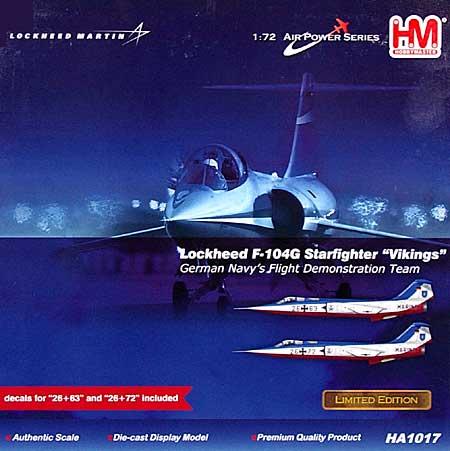 F-104G スターファイター 西ドイツ海軍 ヴァイキングス完成品(ホビーマスター1/72 エアパワー シリーズ (ジェット)No.HA1017)商品画像