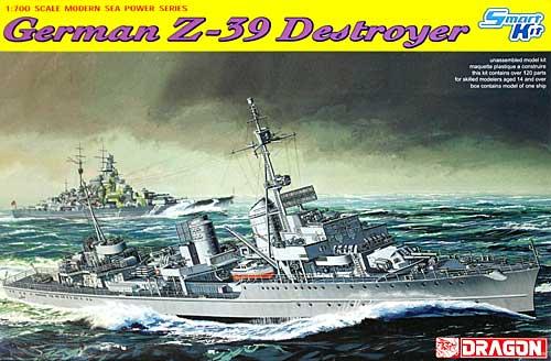 ドイツ駆逐艦 Z-39 (スマートキット)プラモデル(ドラゴン1/700 Modern Sea Power SeriesNo.7103)商品画像