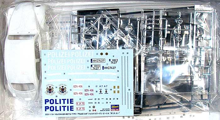 フォルクスワーゲン ビートル ポリス カープラモデル(ハセガワ1/24 自動車 限定生産No.20251)商品画像_1