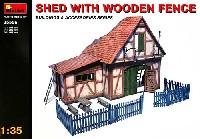 ミニアート1/35 ビルディング&アクセサリー シリーズ物置小屋 (木製フェンス付き)