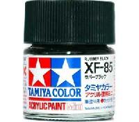 タミヤタミヤカラー アクリル塗料ミニXF-85 ラバーブラック