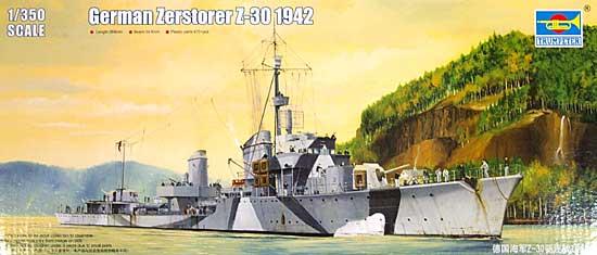 ドイツ Z級駆逐艦 Z-30 1942プラモデル(トランペッター1/350 艦船シリーズNo.05322)商品画像