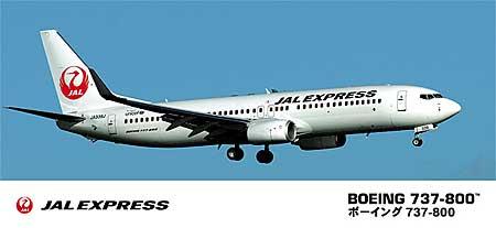 JAL エクスプレス ボーイング 737-800プラモデル(ハセガワ1/200 飛行機シリーズNo.039)商品画像