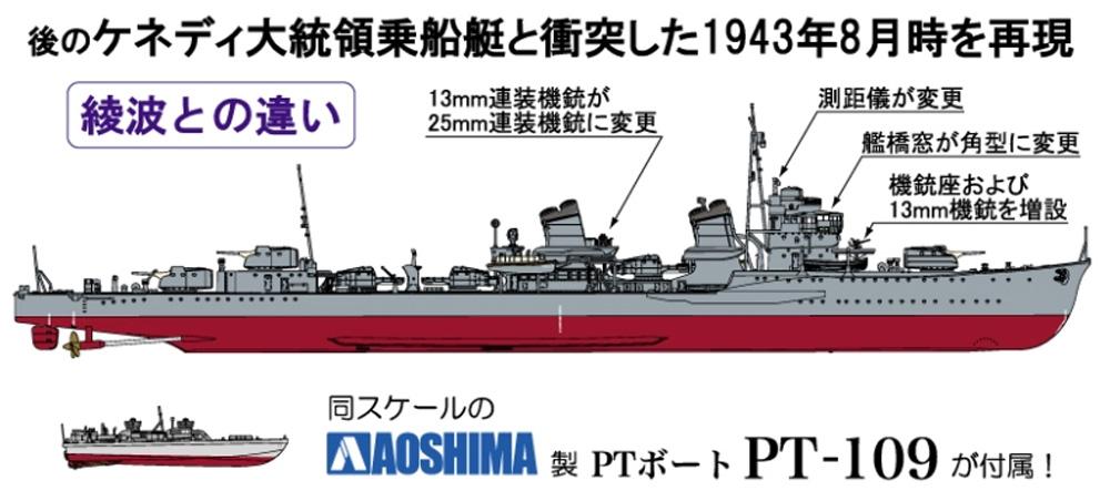 帝国海軍 駆逐艦 天霧プラモデル(ファインモールド1/350 艦船シリーズNo.FW002)商品画像_1