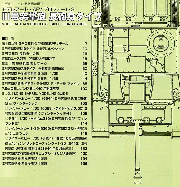 3号突撃砲 長砲身タイプ本(モデルアートモデルアート AFV プロフィールNo.003)商品画像_1