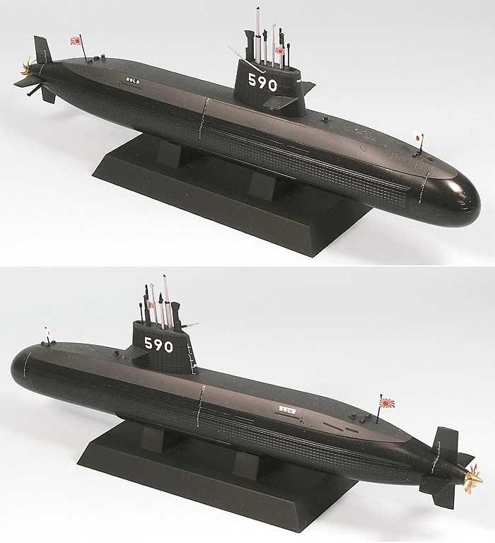 海上自衛隊 潜水艦 SS-590 おやしおプラモデル(ピットロード1/350 スカイウェーブ JB シリーズNo.JB009)商品画像_2