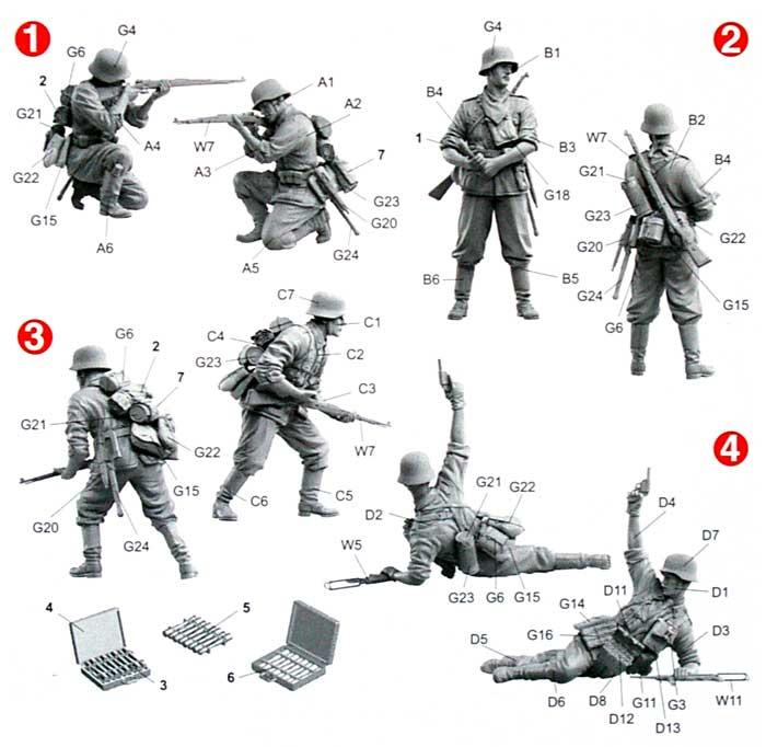 ドイツ歩兵 バルバロッサ 1941プラモデル(ドラゴン1/35 '39-'45 SeriesNo.6580)商品画像_2