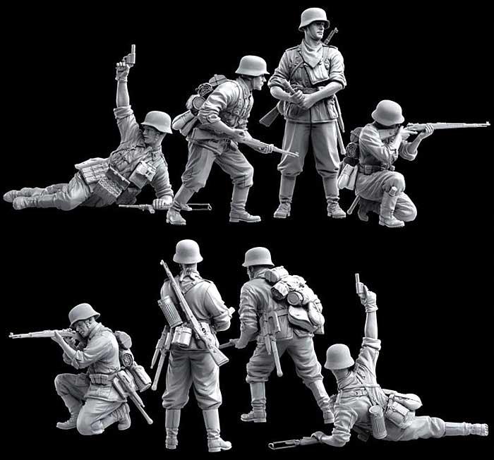 ドイツ歩兵 バルバロッサ 1941プラモデル(ドラゴン1/35 '39-'45 SeriesNo.6580)商品画像_3