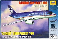 ズベズダ1/144 エアモデルスホーイ スーパージェット 100
