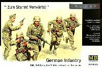 マスターボックス1/35 ミリタリーミニチュアドイツ DAK アフリカ軍団 突撃射撃シーン (North Africa desert battles series)