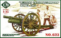 ロシア M1902型 76.2mm野砲 (無砲盾) トレクデゥモビカ (エッチング付)