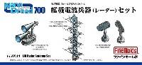 ファインモールド1/700 ナノ・ドレッド シリーズ艦載電波兵器 (レーダー) セット