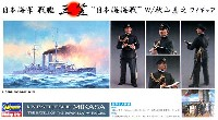 日本海軍 戦艦 三笠 日本海海戦 w/秋山真之フィギュア