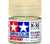 タミヤタミヤカラー アクリル塗料ミニセミグロスクリヤー (X-35)