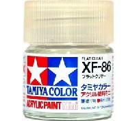 タミヤタミヤカラー アクリル塗料ミニフラットクリヤー (XF-86)