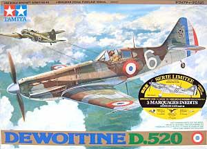 デヴァアティーヌ D.520プラモデル(タミヤ1/48 飛行機 スケール限定品No.89583)商品画像