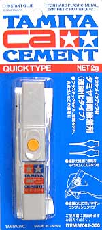 タミヤ 瞬間接着剤 (速硬化タイプ)瞬間接着剤(タミヤメイクアップ材No.062)商品画像