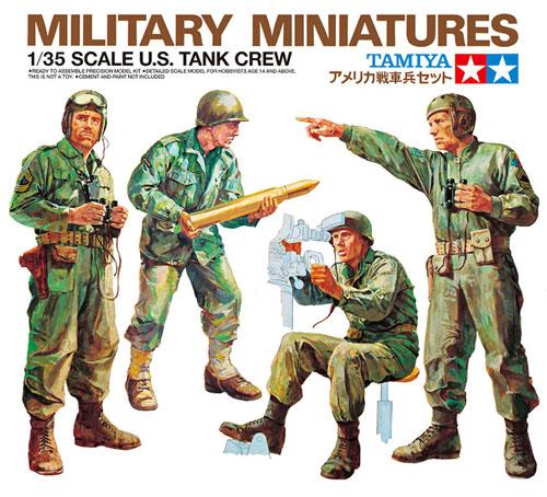 アメリカ 戦車兵セットプラモデル(タミヤ1/35 ミリタリーミニチュアシリーズNo.004)商品画像