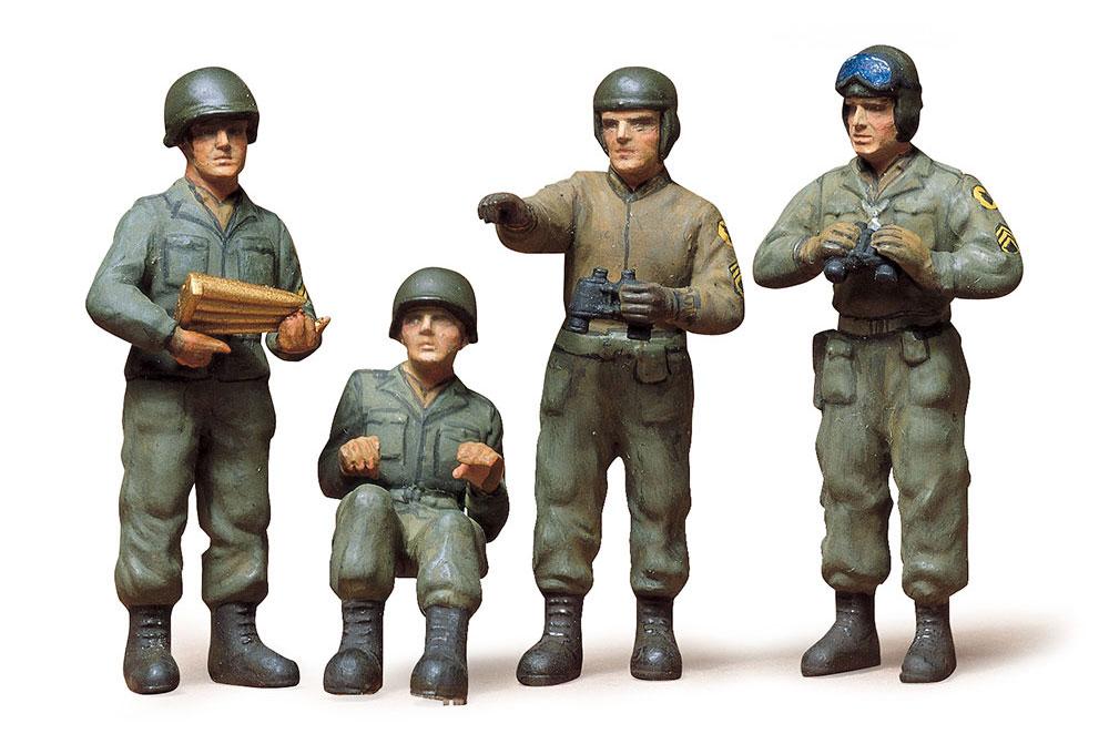 アメリカ 戦車兵セットプラモデル(タミヤ1/35 ミリタリーミニチュアシリーズNo.004)商品画像_2