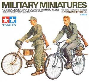 ドイツ歩兵 自転車行軍セットプラモデル(タミヤ1/35 ミリタリーミニチュアシリーズNo.240)商品画像