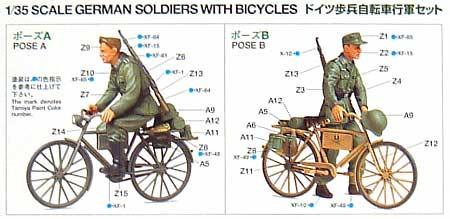 ドイツ歩兵 自転車行軍セットプラモデル(タミヤ1/35 ミリタリーミニチュアシリーズNo.240)商品画像_1